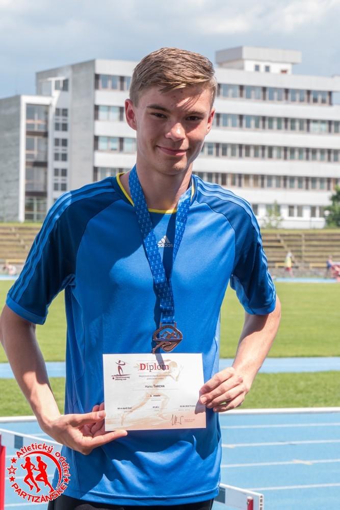 Marko Ťarcha - III. miesto v behu na 60m